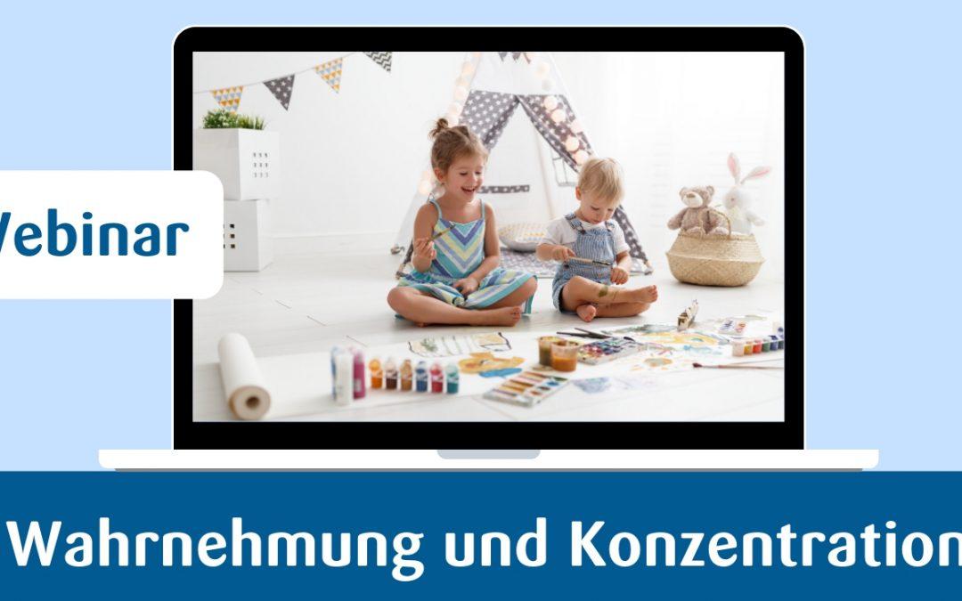 Wahrnehmung und Konzentration bei Kindern – Online-Fortbildung