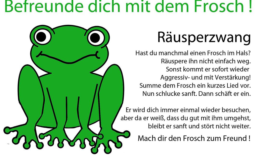 Belegte Stimme – Frosch im Hals