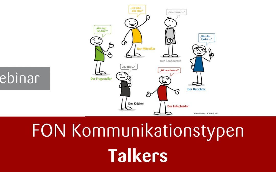 Webinar Rhetorik – Kommunikationstypen Talkers