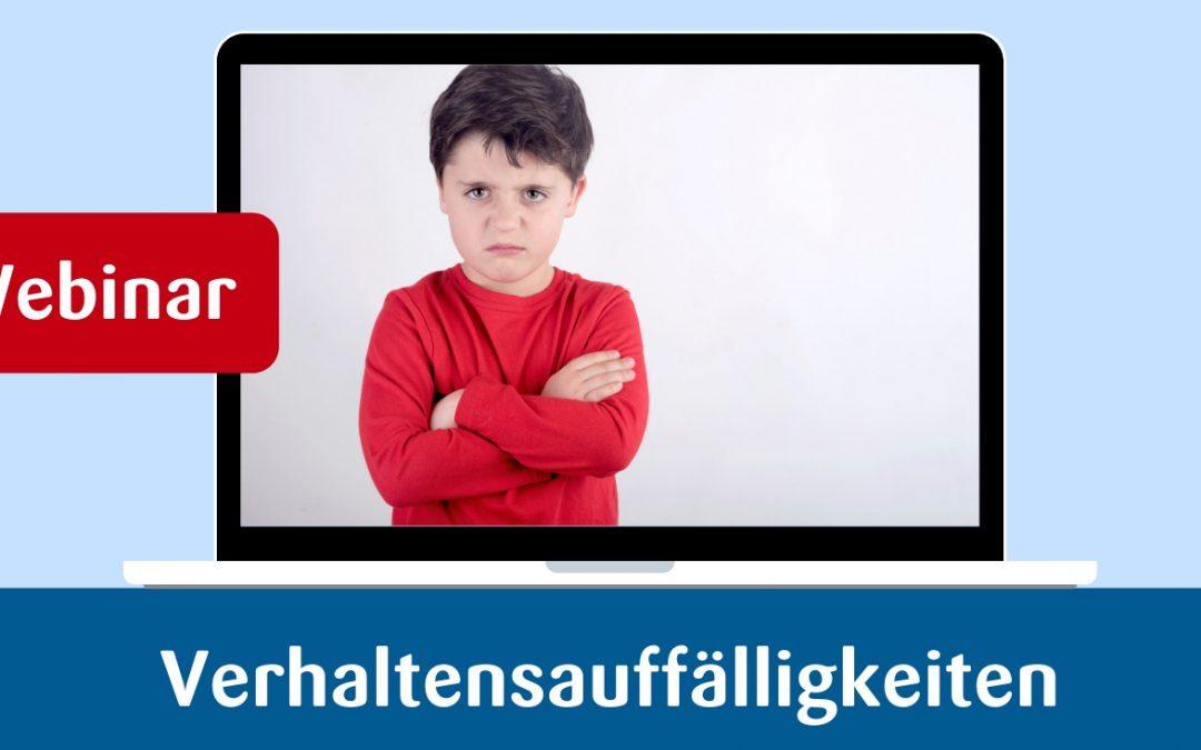 Webinar – Verhaltensauffälligkeiten bei Kindern